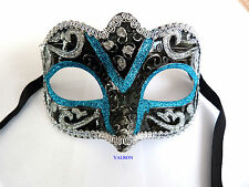 MASQUERADE MASKED BALL EYE MASKS 4 COLOURS FANCY DRESS HEN & STAG (Style 415)