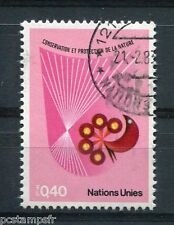 NATIONS UNIES - ONU - GENEVE, 1982, timbre 109, PROTECTION NATURE, oblitéré