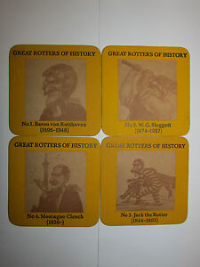 Lot Of 4 Vintage Collectable Schweppes Beer Mats / Coasters