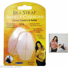 2 Silicone Bra Strap Non Slip Comfort Cushion Pads Shoulder Dent Pain Relief