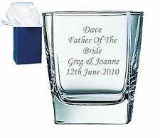 Personalised Engraved Whisky Glass Wedding Dad Daddy Grandad, Paps Free Engraved