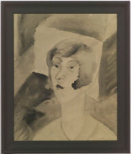 "Elisabeth Kudisch-Zuba (1902-1994) ""Self-Portrait"", Watercolor, 1920s"