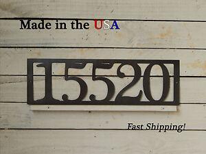 Large House Number Plaque-Metal Address Sign-House/Apartment Number-HN1047