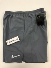 """Nike 7"""" Challenger 2 in 1 Shorts w Compression Grey 856832 065 Men's Size Large"""