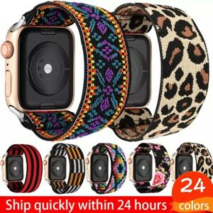 For Apple Watch Series 6 5 4 3 2 1 SE Elastic Scrunchie iWatch Band Sport Strap