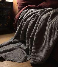 XXXL bettüberwurf Plaid manta lino prelavados 220 x 240 CM, Ash-Grey