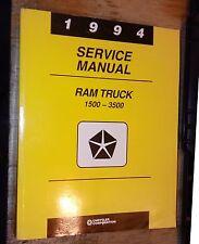 1994 DODGE RAM TRUCK FACTORY SHOP SERVICE REPAIR MANUAL CUMMINS DIESEL & GAS