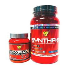 BSN N.O.-XPLODE Pre-Workout 27 Servings + SYNTHA 6 Protein 3.21 lbs COMBO SALE