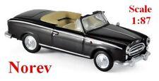 Peugeot 403 cabriolet noir ouvert 1957 - NOREV - Echelle 1/87 - Ho