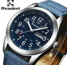 Readeel Sport Nylon Strap Men Army Military Watch (BLUE)