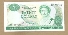 NEW ZEALAND: 20 Dollars Banknote, (UNC), P-173b, Low S/N,1981-92, No Reserve!