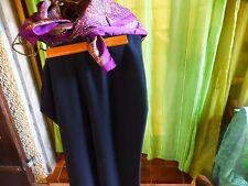 lot=femme  pantalon noir habillé  38-40 +foulard parme soyeux  t bétat