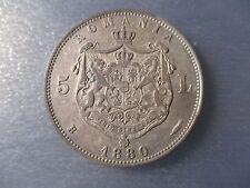 "ROMANIA RUMANIA 5 LEI 1880 CAROL I ""DOMNUL ROMANIEI"" - BONITA"