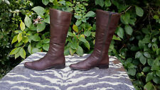 Gabor Brown Leather knee high boots Made in Austria UK size 6.5 EU 39.5