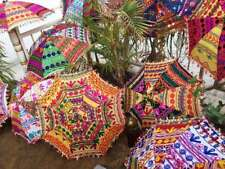 Handmade Embroidered Attractive 10pc Wholesale Parasols Bridal Home Garden-Decor