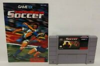 Elite Soccer  w/ Manual  Authentic* Super Nintendo SNES Game Works!