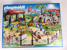 BOXED Playmobil Country 70166 Horse Farm Jumping Show Stable Equestrian Playset