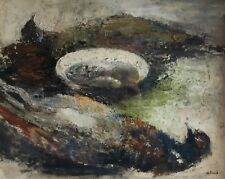 NICE STILL LIFE - PHEASANTS ON THE TABLE - OIL ON BOARD
