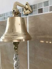 Nautika marítimo campana barco campana de latón de alto brillo-pulido con bändsel 33 cm