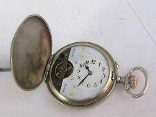 Antique Swiss Pocket Watch HEBDOMAS 8 DAYS JOURS  Hunter case