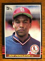 "1985 Donruss TERRY ""JEFF"" PENDLETON St. Louis Cardinals Baseball Error Card #534"
