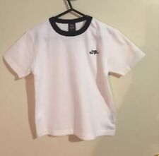 NWOT  Boys size 4-5 Years Beautiful Cotton White & Navy Blue T-shirt Top