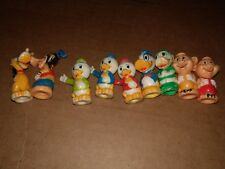 Vintage Disney Goofy Donald Daisy Huey Dewey Louie Little Pigs Pencil Toppers