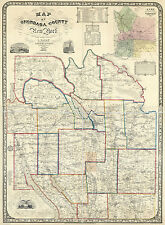 1852 Map of Onondaga County New York from actual surveys Syracuse