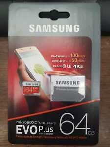 Samsung MicroSD Memory Card 32GB 64GB Mobile Camera Evo Plus Class 10