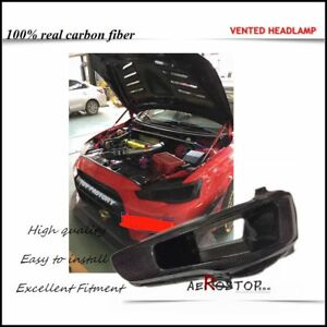 CARBON ARS STYLE LHS VENTED HEADLAMP AIR INTAKE REPLACEMENT FOR  EVO 10 X