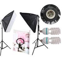 CLKIT11 2 x Continuous Lighting Kit 50x70cm Softbox Soft Box Photo Studio