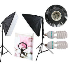 2X150W PHOTOGRAPHY STUDIO SOFTBOX CONTINUOUS LIGHTING SOFT BOX LIGHT STAND KIT