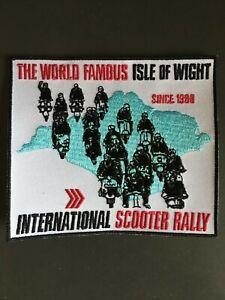 Isle of Wight International Scooter Rally Embroidered Patch Mod Lambretta Vespa