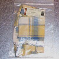 Longaberger Cornflower Plaid SMALL GATEHOUSE Basket Liner ~ Brand New in Bag!