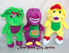 "Barney, BJ, Baby Bop Plush 12"" Singing ""I Love You"" Song Set of 3 PCS"