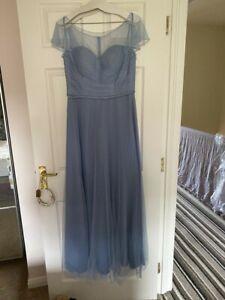 Pastel Blue Bridesmaid Dress Size 14