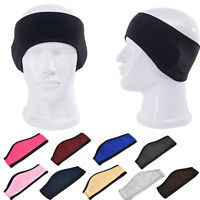 Ear Warmer Winter Head Band Polar Fleece Ski Running Stretch Ear Muff Sweatband