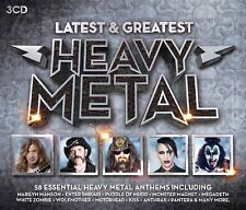 HEAVY METAL-LATEST & GREATEST (KISS, THIN LIZZY, SABBAT, ...) 3 CD NEUF