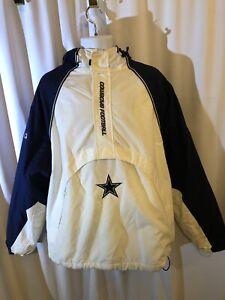 Dallas Cowboys Reebok On Field Pullover Lightweight NFL Jacket L Lg Hooded