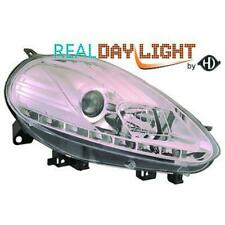 LHD Projector LED DRL Headlights Pair Clear Chrome For Fiat Punto Evo 09-11