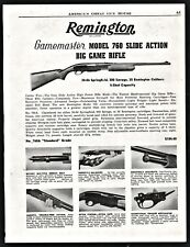 1953 REMINGTON  Model 760 760A Standard Grade Slide Action Rifle AD