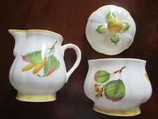 """Villeroy & Boch ~ """"Parkland"""" ~ Creamer and Sugar Bowl with Lid ~ Mint Condition"""