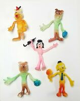 Vintage Bendy Toy Lot Dogs Hong King Lot of 5