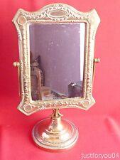 Vintage Decorative Brass Tilting Vanity/Dressing Table Mirror