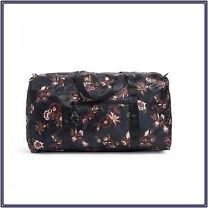 NWT Vera Bradley Packable Duffel Weekender Traveler Bag in Garden Dream