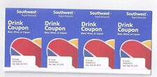 SWA Southwest Airline 4 Drink Coupons Voucher expiring October 31, 2018