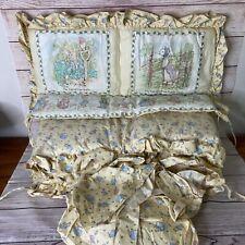 Quiltex Beatrice Potter Peter Rabbit Crib Bumper Headboard and Crib Skirt 3 pcs