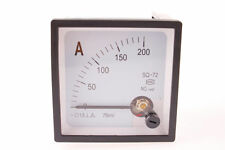 DC 200A SQ-72 Square Panel Analog AMP Current Meter Ammeter 1Pcs Screw Mounted
