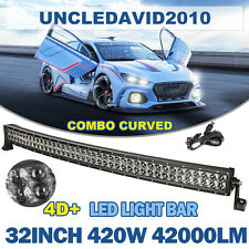 "42"" 560W CREE CURVED LED WORK LIGHT BAR FLOOD SPOT OFFROAD 4WD UTE SUV ATV 43"""