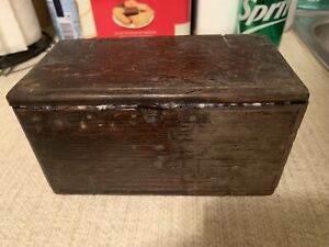 Antique Puzzle Box 1800s  HTF COLLECTABLE SINGER??
